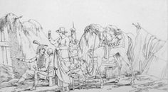 French Soldiers and Camp followers by  Swebach-Desfontaines