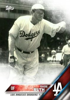 2016 Topps design Babe Ruth Dodgers