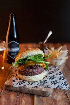 Boilermaker & Bacon Jam Burger Photography YSP Styling Yellow Papaya
