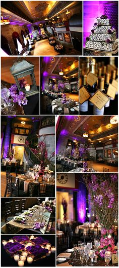 purple and black wedding