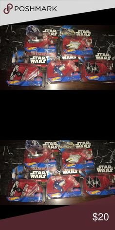 Star wars toys Brand new,fast shipping, $20 for all  (5 pieces) hotwheeelds Other