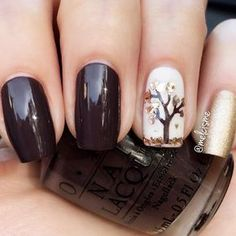 21 Trendy Fall Color Nails for Your Perfect Mani ❤ Sweet Autumn Nail Designs picture 3 ❤ Fall color nails trends is something you should learn before the season comes. In case you missed the chance to get ready, we are here at your service! https://naildesignsjournal.com/trendy-fall-color-nails-designs/ #fallnails #nails #nailart #naildesign