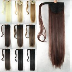 Soowee 10 Colors Long Straight High Temperature Synthetic Hair Ponytail Pony Tail Hair Extensions Hairpiece. Click visit to buy #SyntheticExtensions