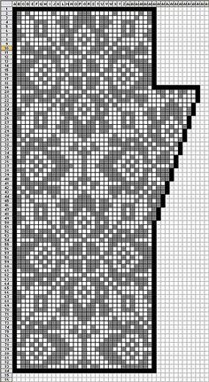 Fair Isle knitting chart - could be use for filet crochet or cross stitch Fair Isle Knitting Patterns, Knitting Charts, Knitting Socks, Knitting Designs, Knitting Stitches, Hand Knitting, Knitting Tutorials, Vintage Knitting, Punto Fair Isle