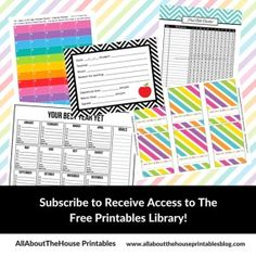 Subscribe to Receive Access to The Free Printables Library!