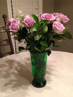 Napco green flower vase, Cleveland USA, depression glass, art deco, Napco vase, forest green vase by TheZenSquirrel on Etsy