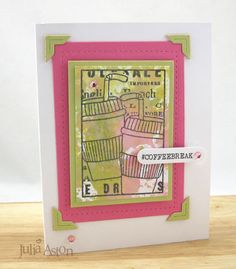 Create With Me: Summer Coffee Lovers Bloghop - Card #3