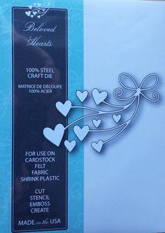 99102 Memory Box 100% Steel Craft Die Beloved Hearts
