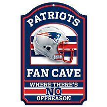 "NFL 11"" x 17"" Fan Cave Hardwood Sign"