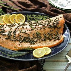 Roasted Salmon with Capers is the simplest dish to come from my kitchen - but my family begs for it. Only takes 5 minutes from prep to oven.