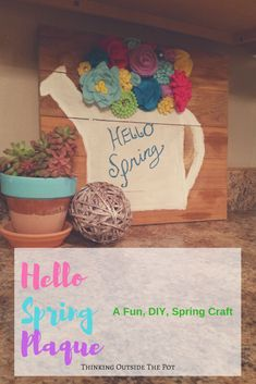 DIY Spring Plaque