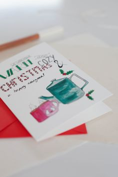 Christmas card by Sarah Krug Image by Holly Marder
