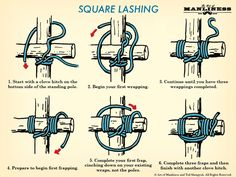 Learn the Basics of Tying Wood Together With These Three Lashings