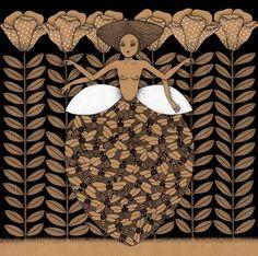 """Queen BEE"" by Viive Noor illustration - Estonia"