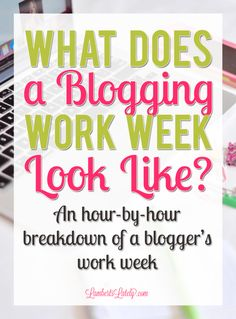 This post is a great example of a part-time or full-time blogger work schedule! She breaks it down into hourly chunks by responsibility and includes social media scheduling, content creation, and website/email maintenance.