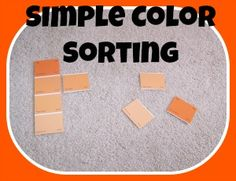 This may be a fun, easy and inexpensive way to introduce and sort colour from your local hardware (paint) store Preschool Color Activities, Preschool Projects, Sorting Activities, Preschool At Home, Preschool Classroom, Hands On Activities, Preschool Ideas, Kids Crafts, Kindergarten