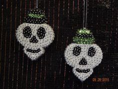 SALE:  Skull Twins Sequin Halloween by NanaJansXmasCrafts on Etsy