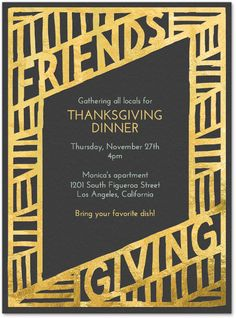 friendsgiving invitations - Google Search