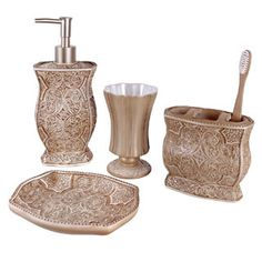 Shop for Victoria Bath Accessory 4-piece Set and more for everyday discount…