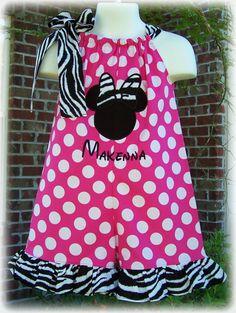 Custom Boutique Clothing Girls Disney Minnie by sewsweetsmocking, $42.00 - for Animal Kingdom but in a dress