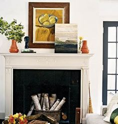 Fireplaces Unused Fireplace And Vases On Pinterest