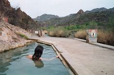 Now it's time for a dip in the pools! You'll be delighted by the pleasantly warm temperature of the water and you may even find yourself sharing the pool with several other visitors. Arizona Road Trip, Arizona Travel, Oh The Places You'll Go, Places To Travel, Places To Visit, Travel Destinations, Dream Vacations, Vacation Spots, Arizona Resorts