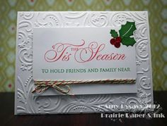 Card #1 in my 2012 Christmas Card Series. By AmyR of Prairie Paper & Ink :)