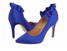 LOVE blue bridal shoes