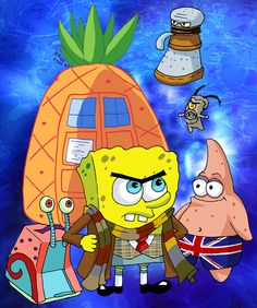 """""""It was bound to happen sooner or later.  Introducing Sponge Bob as the Fourth Doctor!""""  Can I just say...Squidward.  As a Dalek.  Yes."""