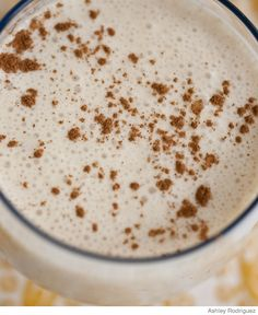 Morning Milkshake with peanut butter and banana.