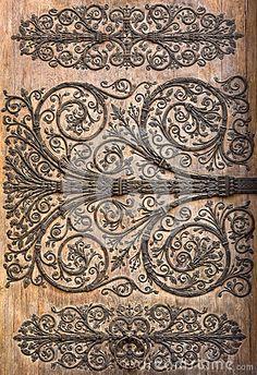 Деталь двери собора Нотр-Дам de Парижа, Парижа