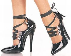 "6"" Pin Up Shoes: Corset Lace Up Pin Up Shoes"
