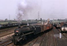 May 1968 Thankfully now preserved is Black 5 45212 seen here joining the wcml at Farington Junction, near Lostock Hall, Preston, with a mixed freight Ref Diesel Locomotive, Steam Locomotive, Abandoned Train, Steam Railway, Northern England, British Rail, Sight & Sound, Steamers, Steam Engine