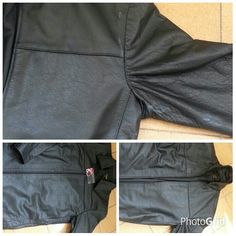 Jaqueta de couro- ajustes nas mangas, ombros e laterais.  #ellegancycosturas #ajustarjaquetadecouro