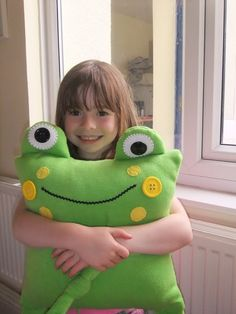 Frog cushion/pillow