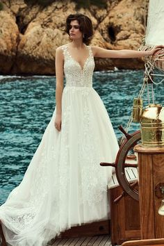 Justin Alexander - Style Sparkle Tulle Ball Gown with Illusion Bodice and Lace Appliqués Wedding Dress Styles, Dream Wedding Dresses, Wedding Gowns, Bridal Gowns, Lace Ball Gowns, Tulle Ball Gown, Plunging Neckline Style, Justin Alexander, Sophisticated Wedding Dresses