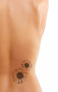 Black And White Sunflower Tattoo Foot