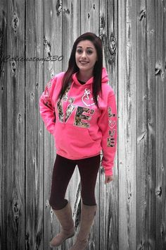 Lover Letter Print Pocket Slim Hooded Hoodie Pink Camo Jacket 1f164865e