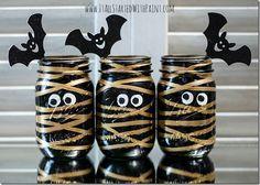 Mummy Mason Jars: Halloween Craft Ideas