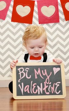 valentines baby photo shoot, chalkboard. www.myblossomingbud.blogspot.com