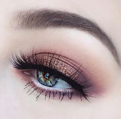 Mauve, purple eyeshadow with gold