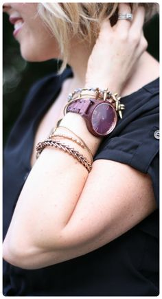 Arm party! | Lovely watch thanks to @prettylifegirls | Free worldwide shipping!