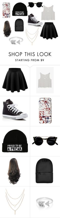 """""""single pringle"""" by kennajayce on Polyvore featuring Monki, Converse, Marc Jacobs, Rains and EF Collection"""