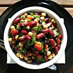 3 Bean Salad  ~  This is just like how my mother made it! LOVE THIS RECIPE!
