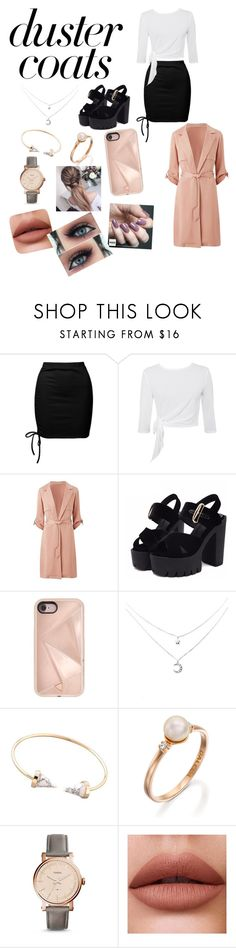 """""""Duster coats"""" by mebanks05 on Polyvore featuring Sans Souci, Rebecca Minkoff, FOSSIL and Zoya"""