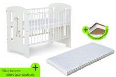 Patutul+KLUPS+Safari+Giraffe+Alb+este+simplu+si+modern.+Acest+patut+copii+este+sigur+si+confortabil,+ideal+pentru+copilul+dumneavoastra.+Suportul+pe+care+se+instaleaza+salteaua+se+regleaza+pe+3+niveluri,... Safari, Cribs, Toddler Bed, Interior, Giraffe, Modern, Furniture, Design, Home Decor