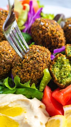 How to make delicious and crispy falafel at home rivaling your favorite restaurants. After lots of kitchen testing, this falafel recipe has become our favorite way to make falafel. The recipe is straightforward, plant-based (vegan), and they taste inc Veggie Recipes, Indian Food Recipes, Chicken Recipes, Cooking Recipes, Healthy Recipes, Bake Sale Recipes, Vegetarian Recipes Videos, Vegan Recipes Plant Based, Dinner Recipes