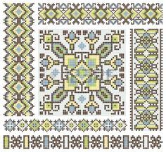brod la main comme une bonne au point de croix design pattern ethnique en Ukraine Banque d'images