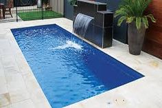 In ground swimming pool ideas. Considering an in ground swimming pool for your house costs tens of thousands of dollars which will affect the beauty of your Small Inground Pool, Small Swimming Pools, Small Backyard Pools, Backyard Pool Landscaping, Backyard Pool Designs, Swimming Pools Backyard, Pools Inground, Inground Pool Designs, Lap Pools