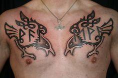 Pix For > Hugin And Munin Tattoo